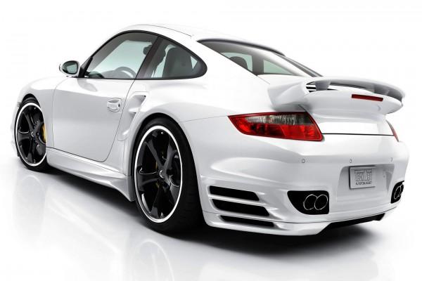 Un Porsche de color blanco