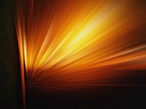 Destello de luz naranja