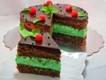 Tarta de chocolate con crema de menta