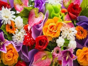 Hermosas flores primaverales