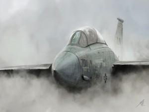 Imagen de un avión de combate