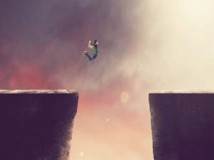 Chico saltando
