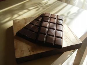 Dos gruesas tabletas de chocolate