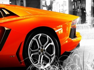 Lateral de un Lamborghini Aventador LP700-4