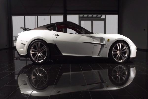 Un Ferrari blanco