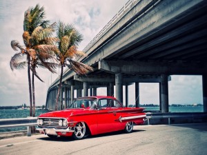 Chevrolet Impala 1960 de un bonito color rojo