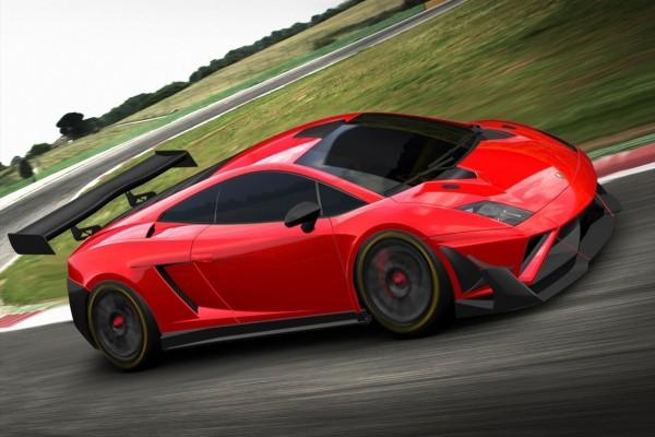 Lamborghini corriendo en un circuito