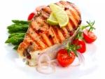 Filete de salmón con verduras