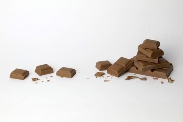 Onzas de chocolate con leche