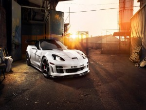 Chevrolet Corvette C6 ZR1 Tripple X de color blanco