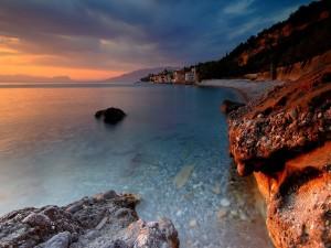 Pueblo junto al mar