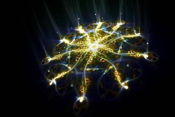 Estructura digital iluminada