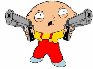 Stewie con dos pistolas (Padre de Familia)