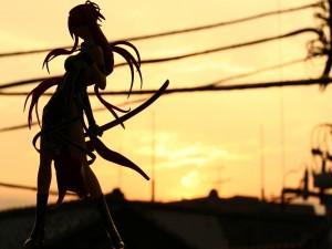 Silueta de una guerrera
