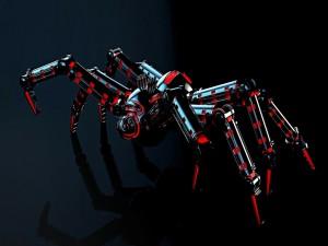 Robot mecánico con forma de araña