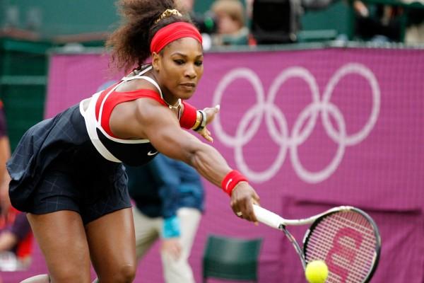 Serena Williams en un partido de tenis
