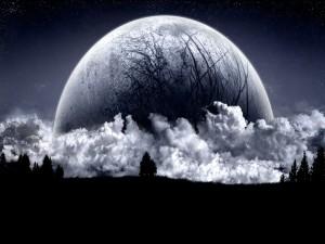 Masa nubosa entorno a un planeta