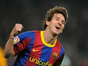 La felicidad de Messi tras meter un gol con la camiseta del Barcelona