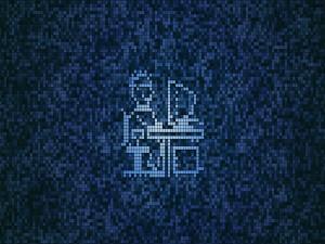 Mosaico de un informático