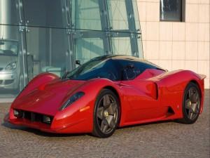 Ferrari P4/5 de color rojo