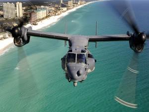 Bell-Boeing V-22 Osprey sobre el océano