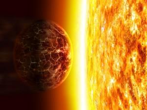 Planeta atraído por el sol