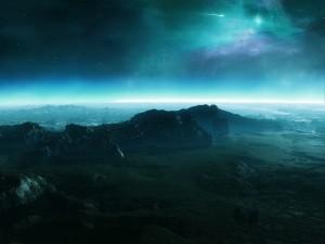 Superficie de un planeta rocoso y desértico
