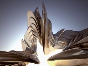 Figura de metal en 3D