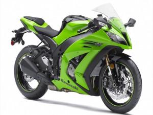 Una espectacular moto Kawasaki Ninja ZX-10R