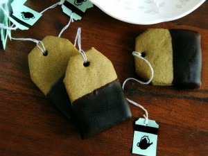 Galletas con forma de bolsa de té