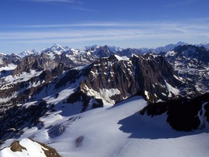 Los Alpes franceses nevados