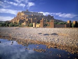 Vista del ksar de Ait Ben Hadu (Marruecos)
