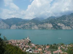 Vista parcial de Malcesine, Italia