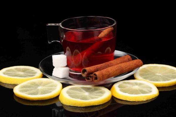 Té rojo con canela y limón