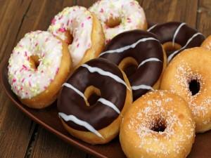 Donuts de tres sabores