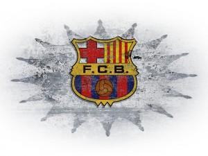 Estrella rodeando al escudo del Fútbol Club Barcelona