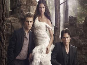 """Los tres protagonistas de la serie """"The Vampire Diaries"""""""
