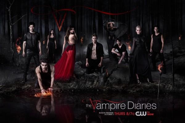 """Cartel de una nueva temporada de """"The Vampire Diaries"""""""