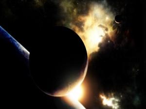 Luz en el espacio