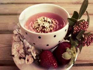Té con fresas