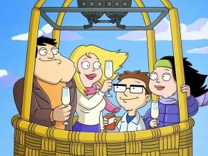 """La familia de """"Padre made in Usa"""" viajando en globo"""