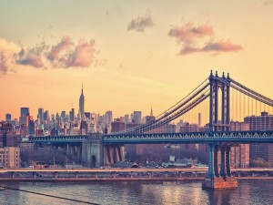 Bonito amanecer sobre Nueva York