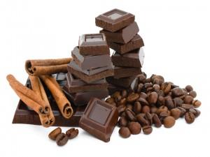 Onzas de chocolate, canela y café