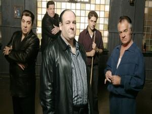 Tony Soprano junto a sus hombres