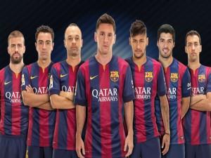 Siete jugadores del F.C. Barcelona