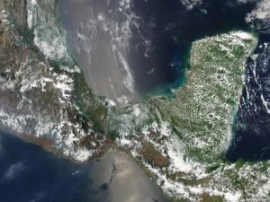 Vista satélite de México