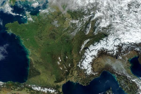 Francia vista desde el espacio