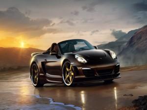 Porsche en una playa