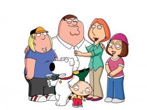 Peter Griffin con su familia (Padre de Familia)