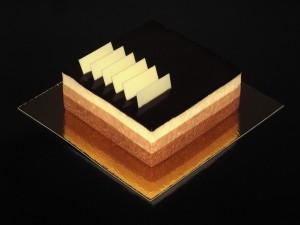 Una tarta de tres chocolates